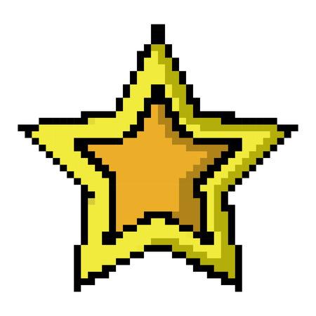 Ontwerp van het het pictogrambeeld van het stervideospelletje pixel de vectorillustratie Vector Illustratie