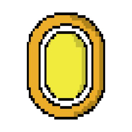 Ontwerp van de het pictogrambeeld van het gemvideospelletje pixel het vectorillustratie