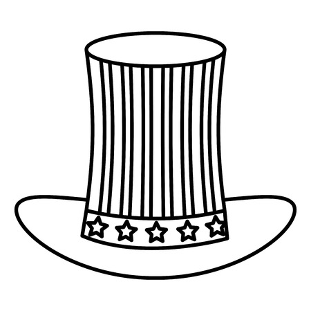 Hat with USA flag isolated icon vector illustration design