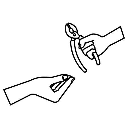 펜 치 도구 격리 된 아이콘 벡터 일러스트 레이 션 디자인 일러스트