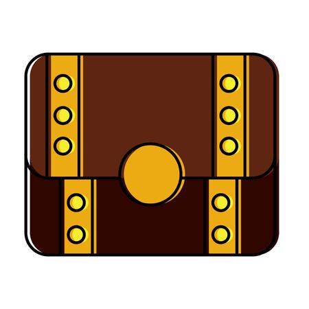 treasure chest closed  icon image vector illustration design Illustration