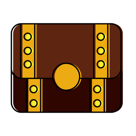 treasure chest closed  icon image vector illustration design Ilustração