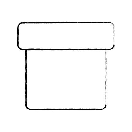 box closed icon image vector illustration design  black sketch line