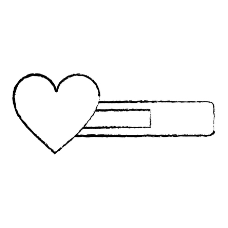 life bar video game related icon image vector illustration design  black sketch line