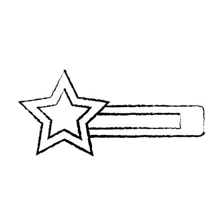 star bar video game related icon image vector illustration design  black sketch line