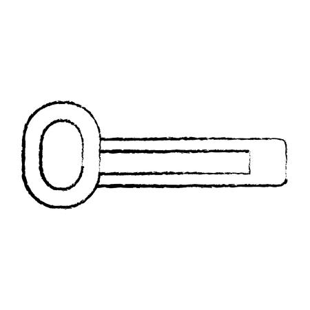 gem bar video game related icon image vector illustration design  black sketch line