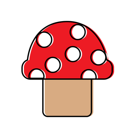 mushroom with dots icon image vector illustration design Stock Vector - 92103625