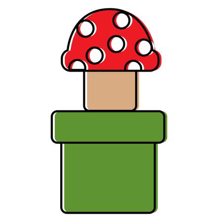 mushroom with dots icon image vector illustration design Banco de Imagens - 92103863