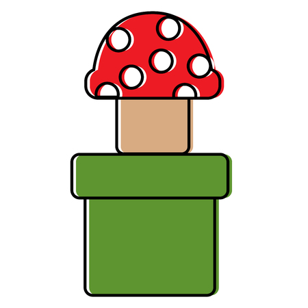 mushroom with dots icon image vector illustration design