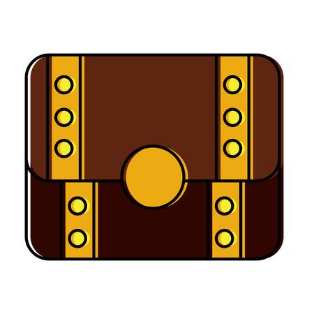 Progettazione dell'illustrazione di vettore di immagine dell'icona chiusa del forziere Archivio Fotografico - 92103864