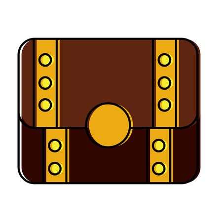treasure chest closed  icon image vector illustration design