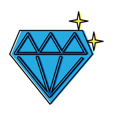 ダイヤモンド輝くアイコン画像ベクトルイラストデザイン
