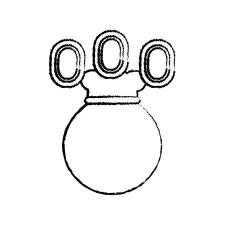 munten of edelstenen met tas videogame gerelateerde pictogram afbeelding vector illustratie ontwerp zwarte schets lijn