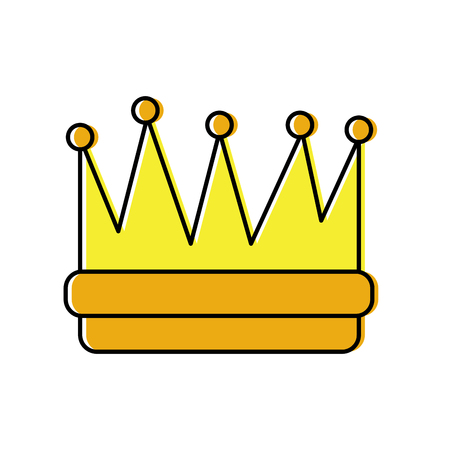 royal crown icon image vector illustration design