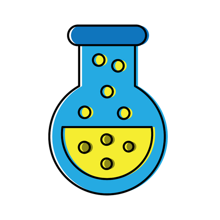 flask test tube science icon image vector illustration design  Illustration