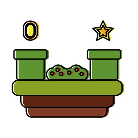 トンネル草星宝石ビデオゲーム関連アイコン画像ベクトルイラストデザイン