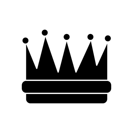royal crown icon image vector illustration design  black and white