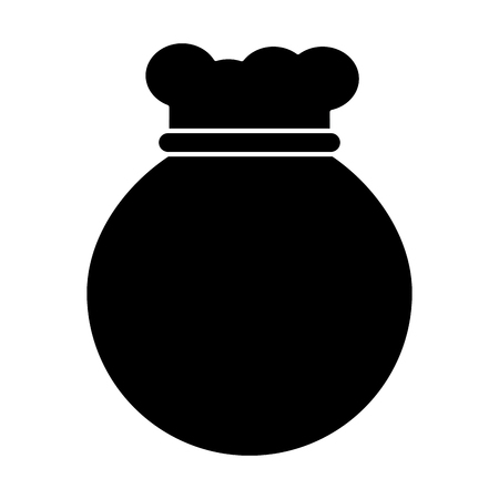 bag or sack icon image vector illustration design  black and white