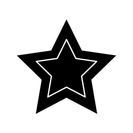 star cartoon icon image vector illustration design  black and white Stok Fotoğraf - 92103944