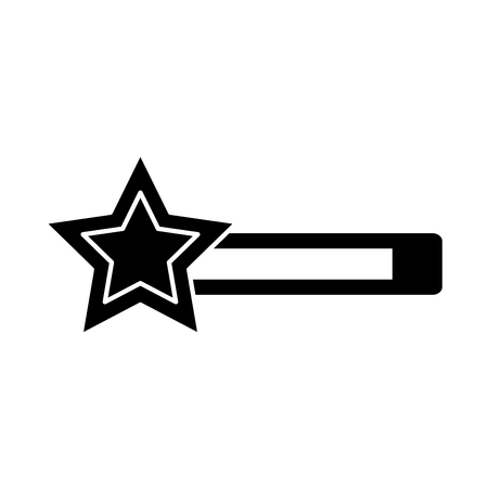 star bar video game related icon image Illustration