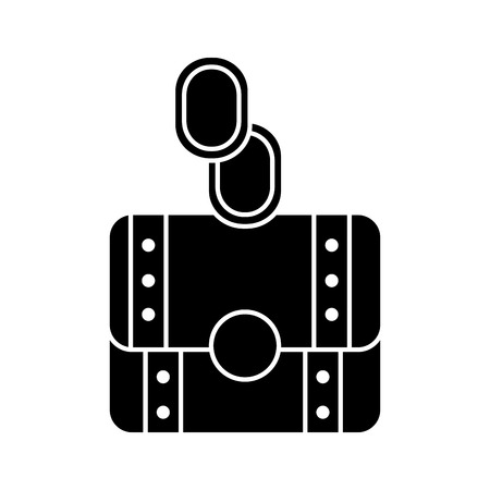 coins or gems with chest video game related icon image