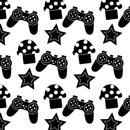 controller mushroom star video game related icon