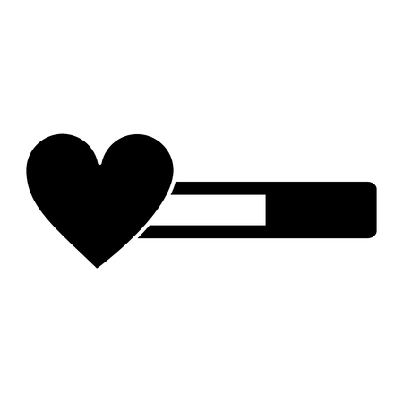 life bar video game related icon image vector illustration design  black and white Illustration