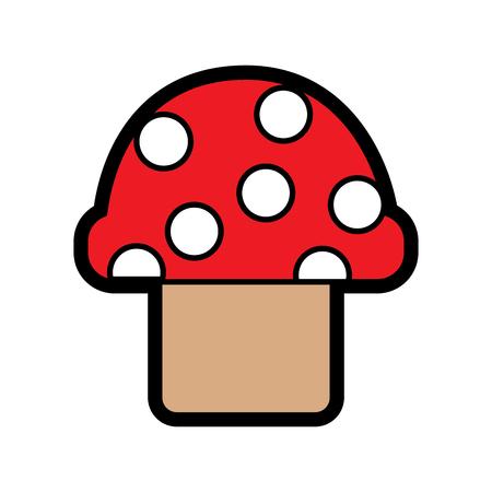mushroom with dots icon image vector illustration design Banco de Imagens - 92103953
