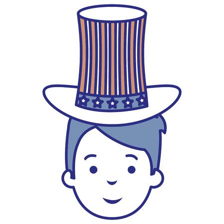 man with USA hat vector illustration design Illustration