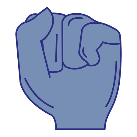 Hand up fist icon vector illustration design Ilustracja
