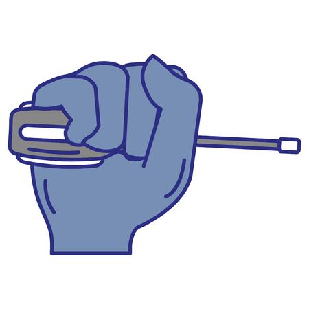 hand with screwdriver tool isolated icon vector illustration design Ilustração