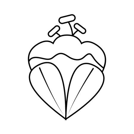 Single side view flower icon image vector illustration design