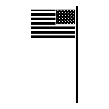 USA flag isolated icon vector illustration design