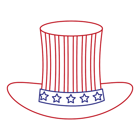 hat with USA flag isolated icon vector illustration design Stock Vector - 92170805