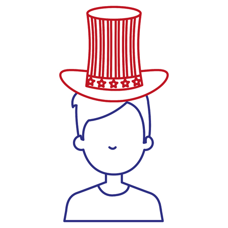 man with USA hat vector illustration design Stock Vector - 92170807