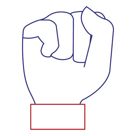 Remettre le poing icône vector illustration design Banque d'images - 92170815