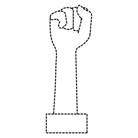 手を上げる拳アイコンベクトルイラストデザイン  イラスト・ベクター素材
