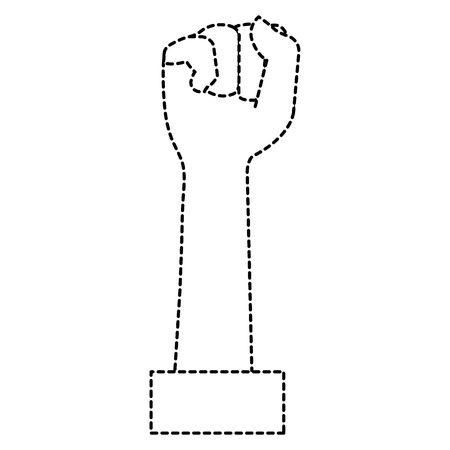 Hand up fist icon vector illustration design Illustration