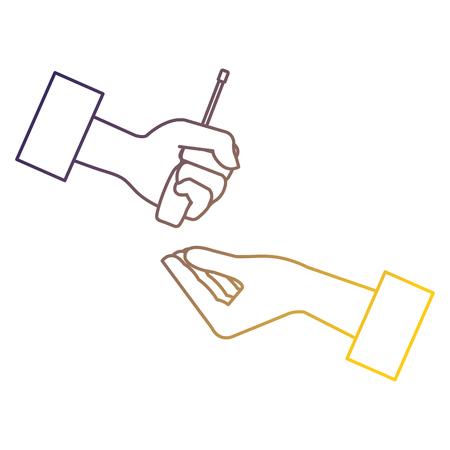 Hands with screwdriver tool isolated icon vector illustration design Illusztráció