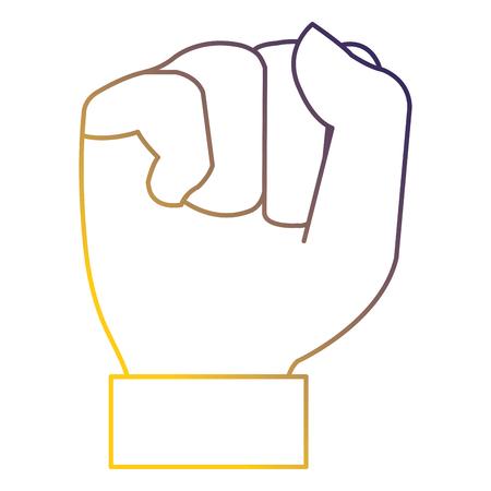 hand up fist icon vector illustration design