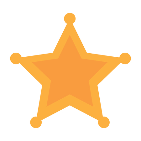 Police sheriff star icon