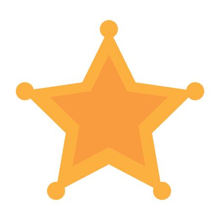 Icono de la policía sheriff star Foto de archivo - 92116659