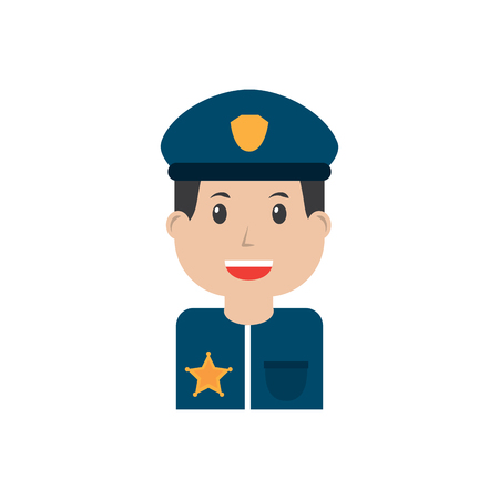 Policeman smiling icon image vector illustration design