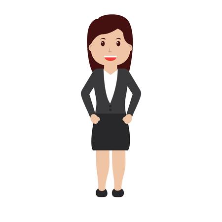 business woman happy icon image vector illustration design  Ilustração