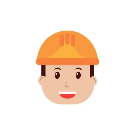 Male with helmet image vector illustration design