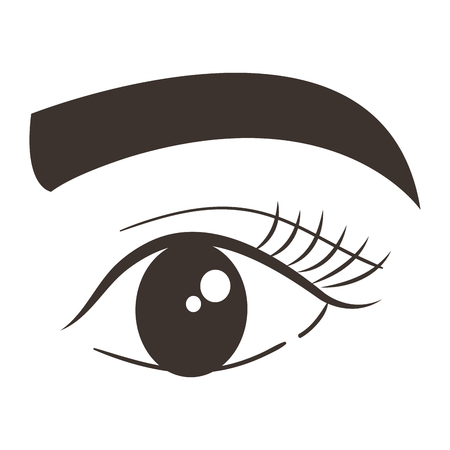 Eye with eyebrow icon vector illustration design. Ilustracja