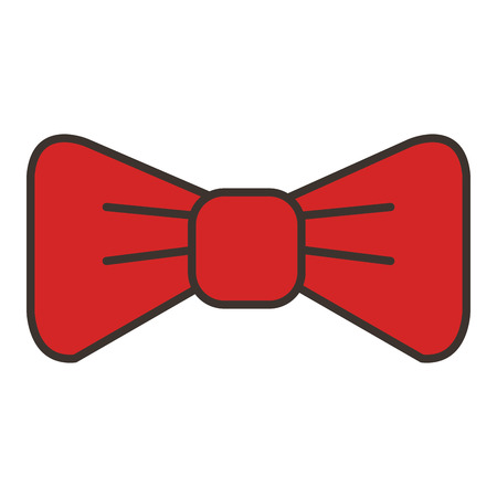 Elegant bow tie isolated icon vector illustration design. Ilustração