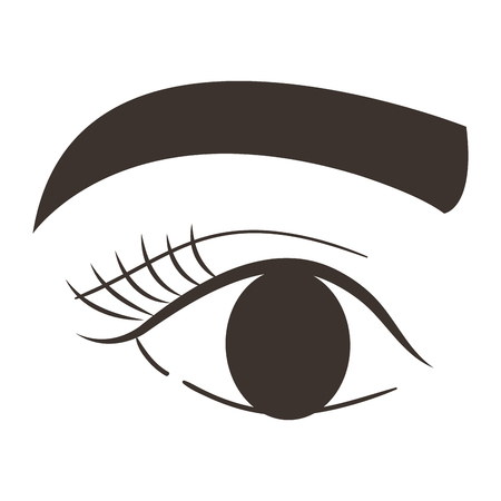 eye with eyebrow icon vector illustration design