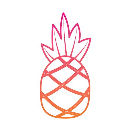 Ananas fruit vectorillustratie Stock Illustratie