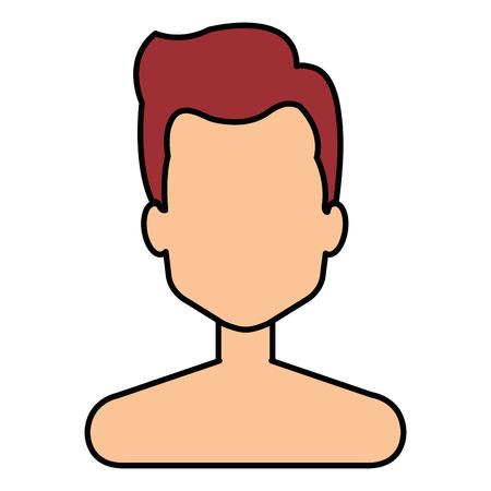 young man shirtless avatar character vector illustration design Stock Vector - 92268796